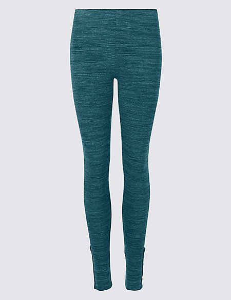 Space Dye Hem Button Leggings