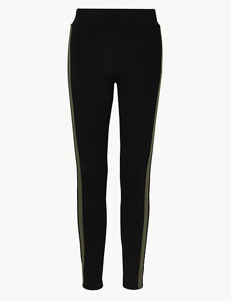 Side Stripe High Waist Leggings