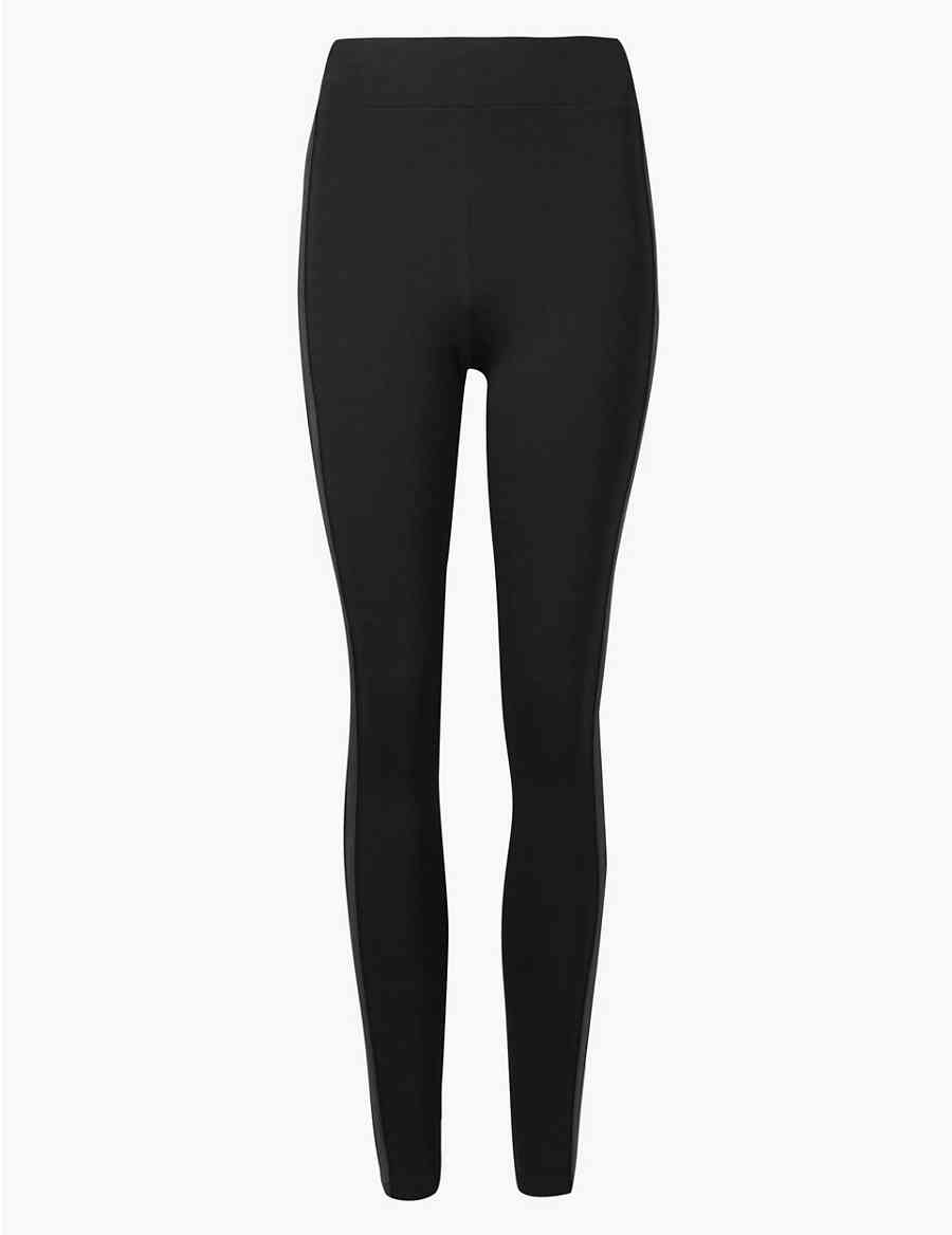 9dcd95214ef797 Side Stripe High Waist Leggings
