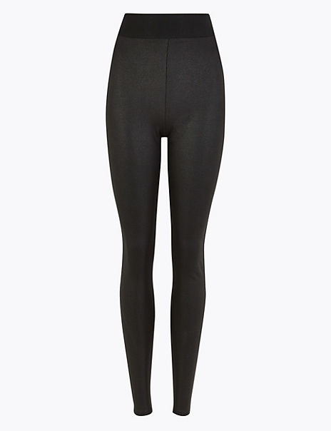 Coated High Waist Leggings