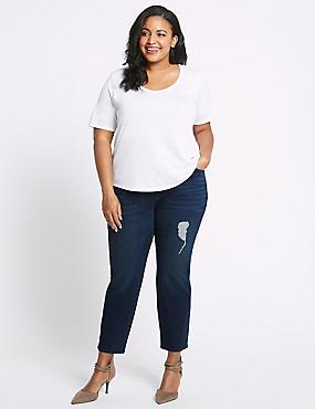 CURVE High Waist Relaxed Slim Leg Jeans