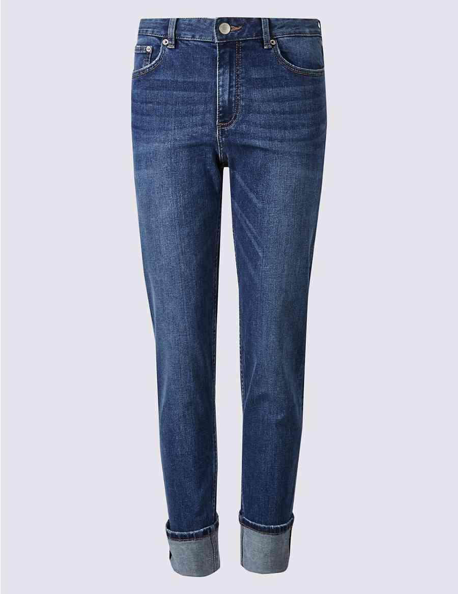 15eb27b5270 Mid Rise Relaxed Slim Leg Jeans