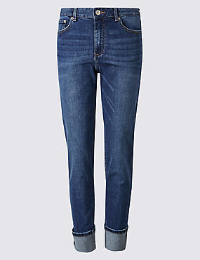 Mid Rise Relaxed Slim Leg Jeans