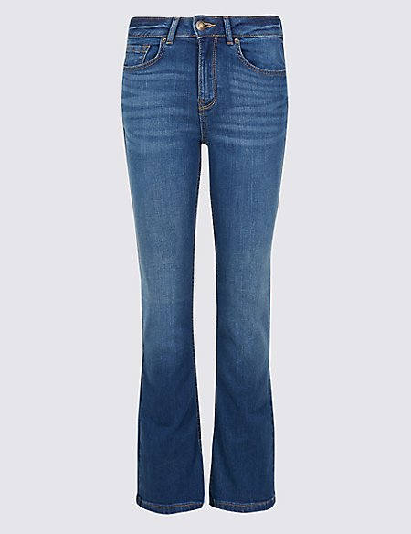 PETITE Mid Rise Flared Jeans