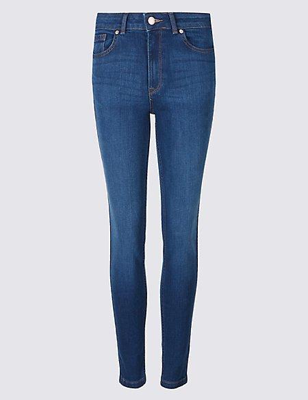 Ozone Mid Rise Skinny Leg Jeans