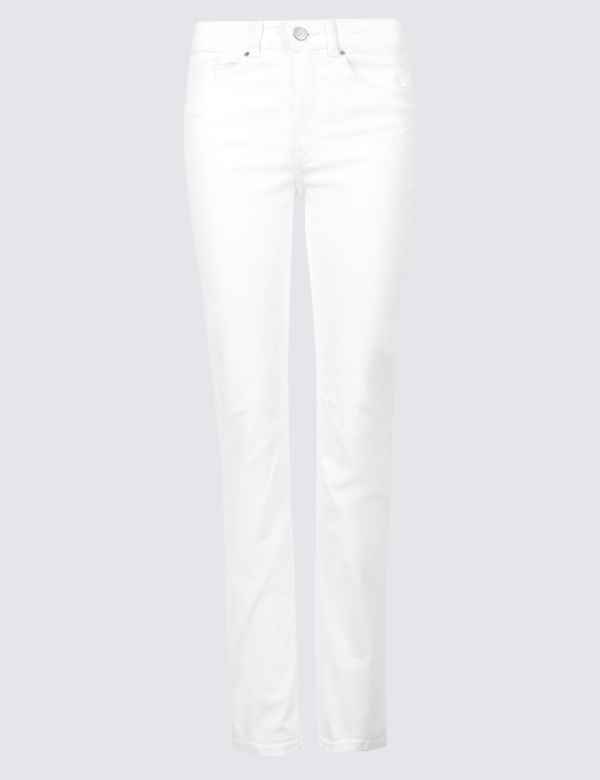 47f6a7f1b0261 Mid Rise Straight Leg Jeans. M&S Collection