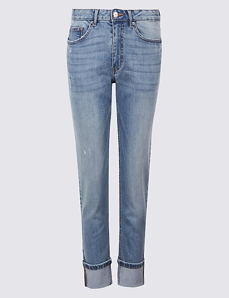 PETITE Mid Rise Relaxed Slim Jeans