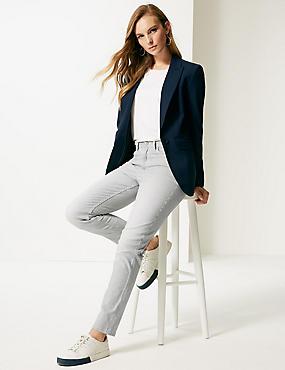 Striped High Waist Jeans