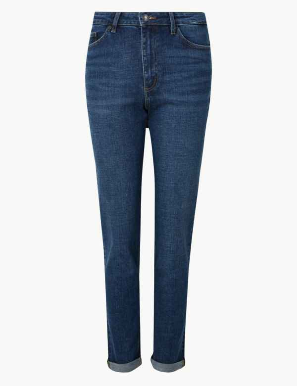 2c7fa706713 Relaxed Mid Rise Slim Jeans