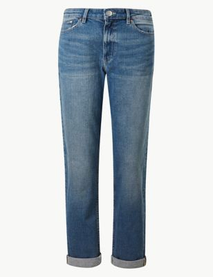 b6bb8fbe2e3cd0 Relaxed Mid Rise Slim Jeans £25.00