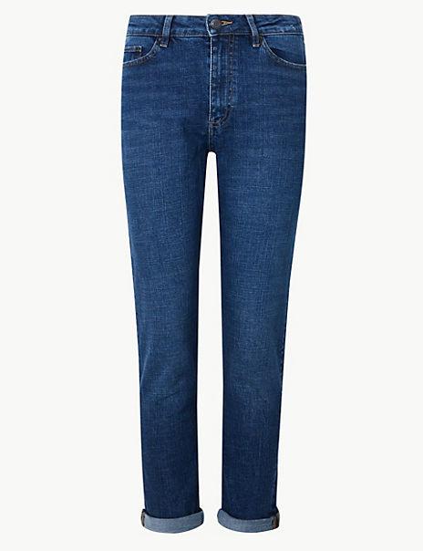 PETITE Ankle Grazer Jeans