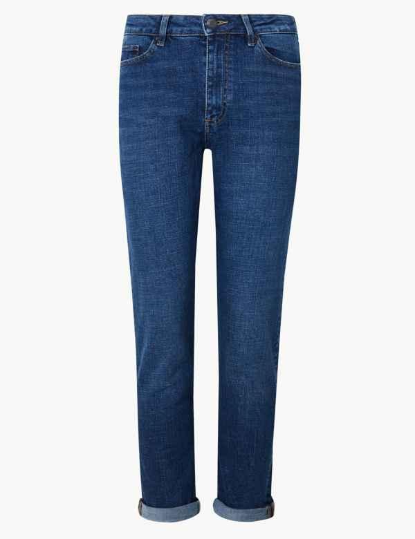 ec486fb169 PETITE Cotton Rich Ankle Grazer Jeans