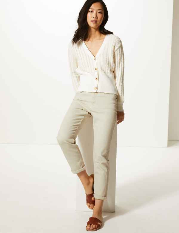 bd484dfb4be0 Relaxed Mid Rise Slim Cropped Jeans