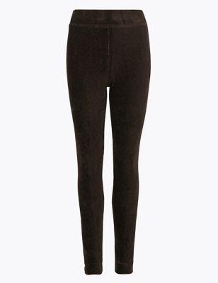 Corduroy Slim Fit Ankle Grazer Leggings by Marks & Spencer