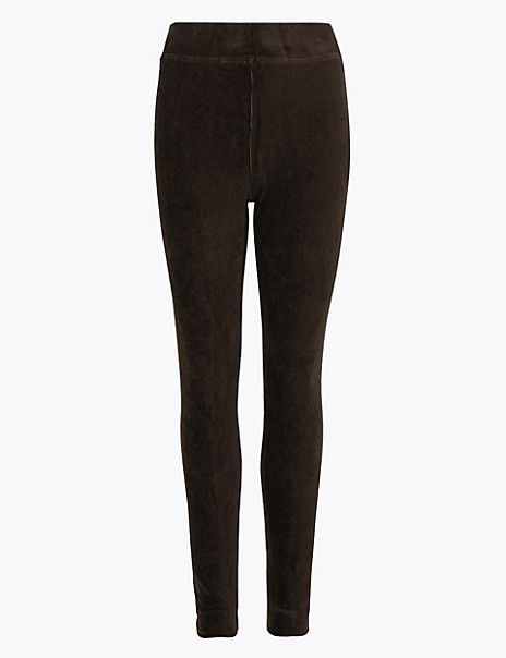 Corduroy Slim Fit Ankle Grazer Leggings