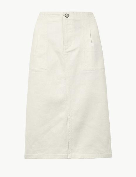 Utility Denim Skirt