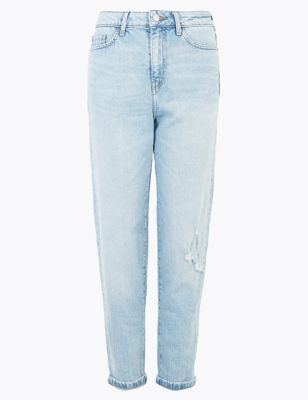 High Waist Cropped Jeans by Marks & Spencer
