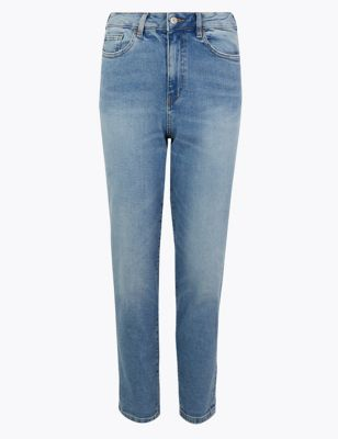High Waist Mom Fit Ankle Grazer Jeans by Marks & Spencer