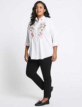 CURVE High Waist Skinny Jeans, BLACK, catlanding