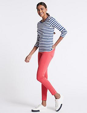 Mid Rise Super Skinny Jeans, RASPBERRY, catlanding