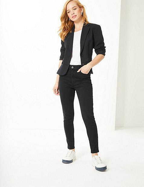 PETITE Mid Rise Super Skinny Jeans