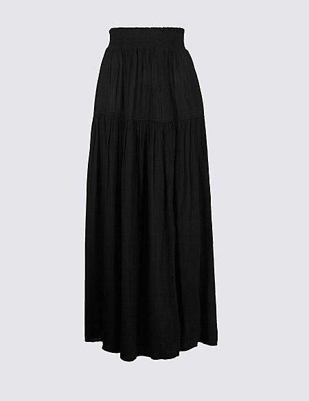 Crinkle Full Maxi Skirt