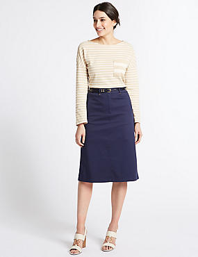 Cotton Rich Pencil skirt