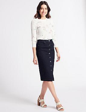 Pinspot Denim Skirt