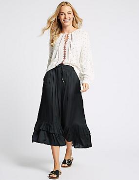Tiered Full Maxi Skirt