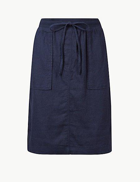 Linen Rich Pencil Skirt