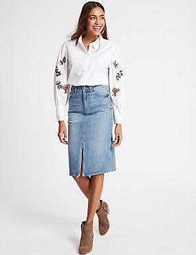 Free Shipping Genuine Best Store To Get PETITE Denim Mini Skirt light indigo Marks and Spencer The Cheapest Buy Cheap Discount QMl0iGfl
