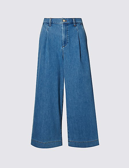 Pleated Front Culottes