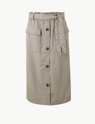 78a3d10a34d5 Midi A-Line Skirt with Cotton £17.50