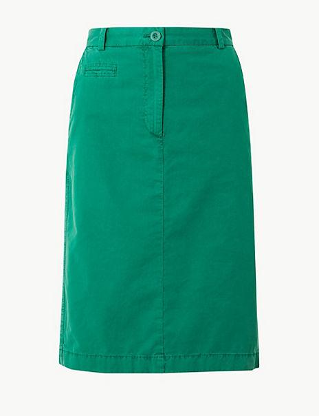 Pure Cotton Chino Skirt