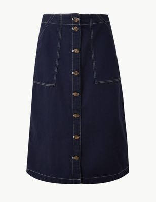 c12cb7341dd0 Womens Midi Skirts | Leather Pencil & A Line Midi Skirts | M&S