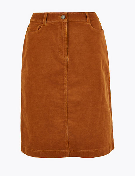 Cotton Rich A-Line Skirt