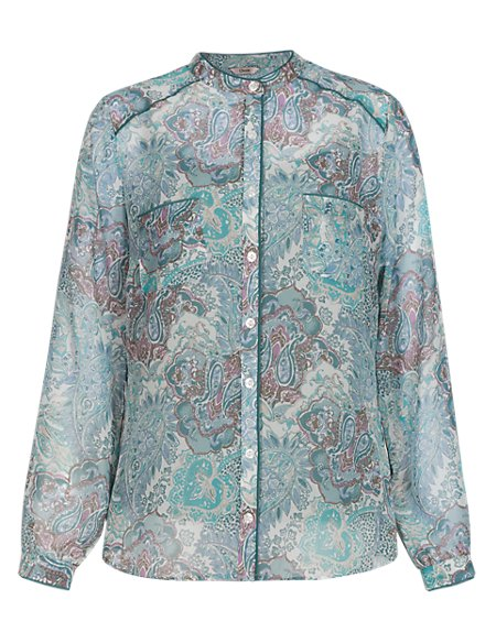 Paisley Print Blouse with Camisole
