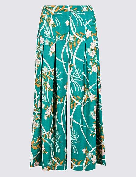 Oriental Print Culottes