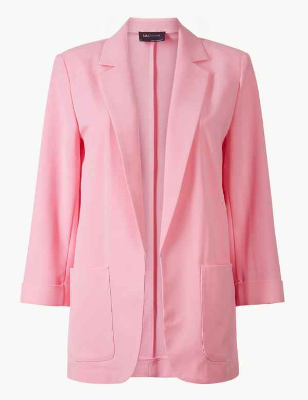 M&s Collection Pastel Light Pink Spring/summer Blazer Size Uk 16 Women's Clothing