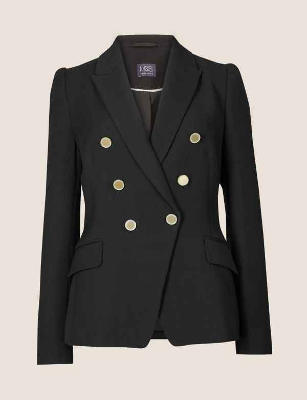 b10b0663e45 Gold Button Jacket. M&S Collection