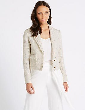 Sparkly Single Breasted Blazer