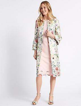 Jacquard Floral Print Blazer