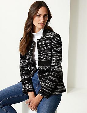 Textured Jersey Blazer