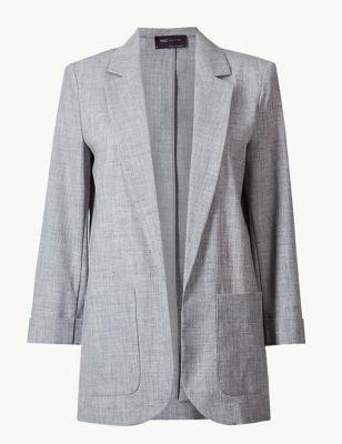 e9e895465f96 Textured Open Front Blazer £35.00