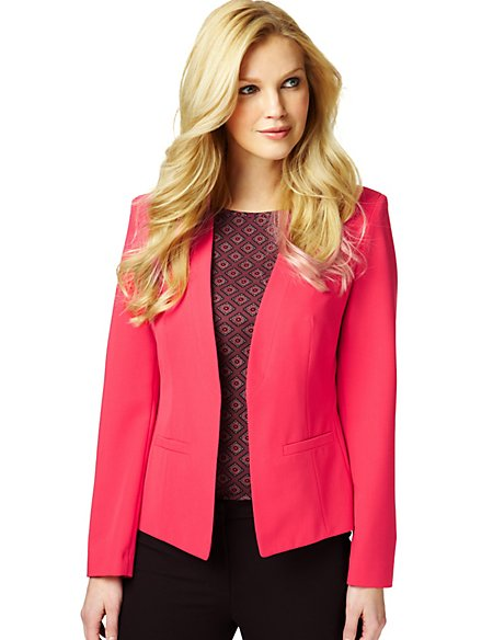 Open Front Tailored Jacket