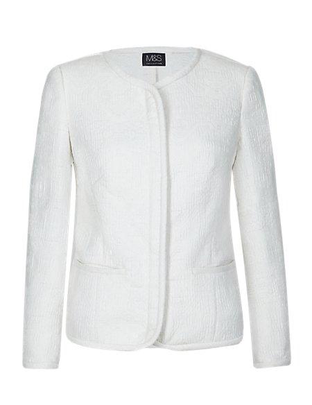 Soft Zipped Jacquard Jacket