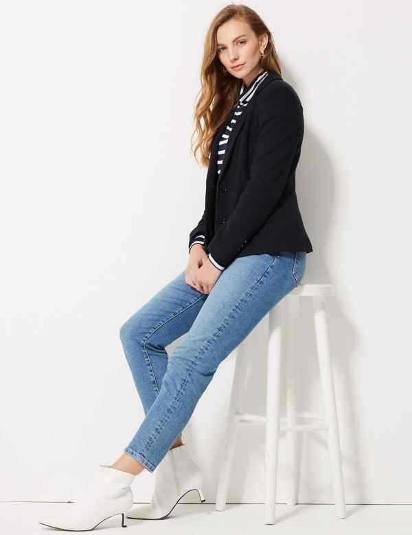9b4eb3c3 M&S Collection Blazers | Womens Collarless Blazers | M&S