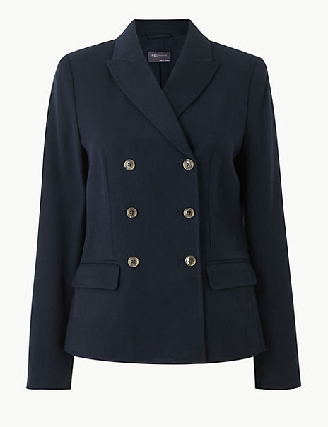 Double Breasted Blazer with Wool