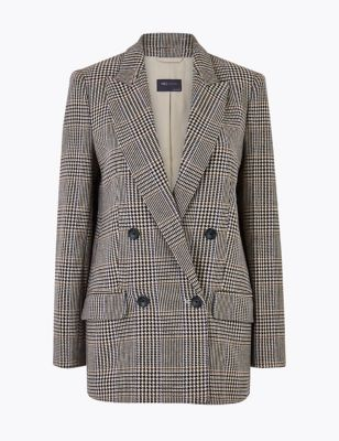 M/&S AUTOGRAPH  Checked Double Breasted Blazer PRP £99