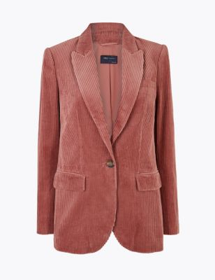 Pure Cotton Corduroy Blazer by Marks & Spencer